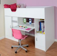 High Sleeper Cabin bed  with Colour options ideal childrens safe  bed with wardrobe and desk  Cromer